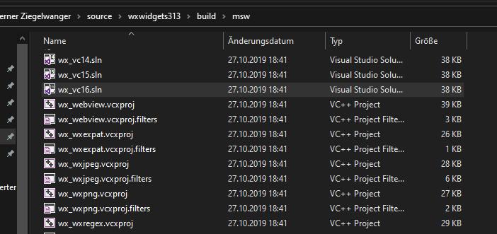 wxWidgets kompilieren
