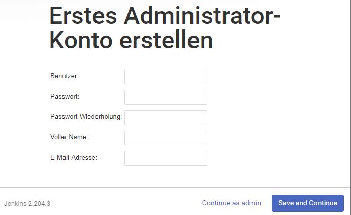 Administrator Konto anlegen
