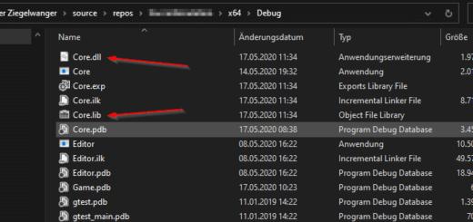 dll Export erstellt nun auch eine lib Datei
