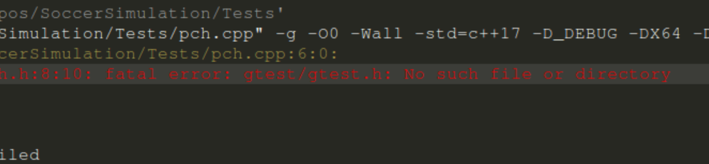 gtest no such file or directory