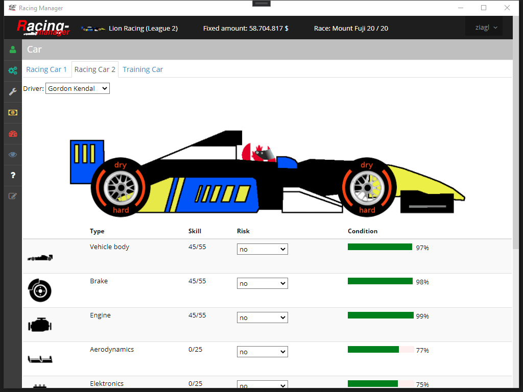 Racing-Manager .Net Core App