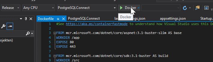 Visual Studio Docker Container erstellen