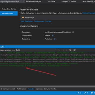 C# .Net Core Programm veröffentlichen