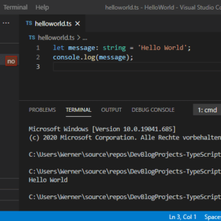 TypeScript hello world