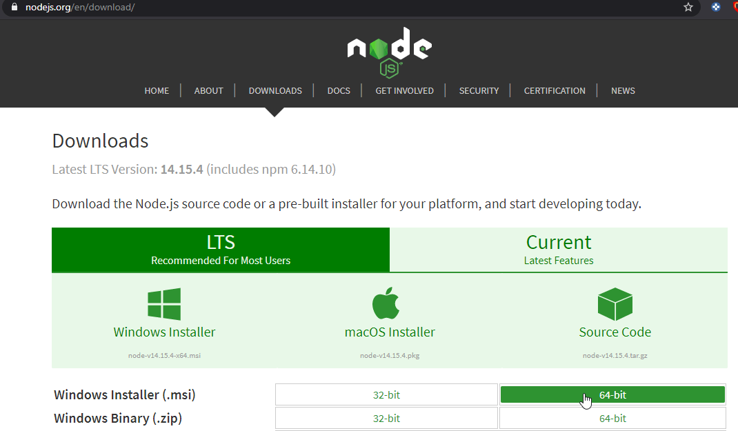 TypeScript installieren node.js