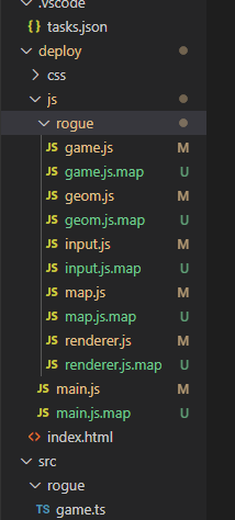 Visual Studio Code map Dateien