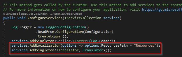 Blazor Server add localization