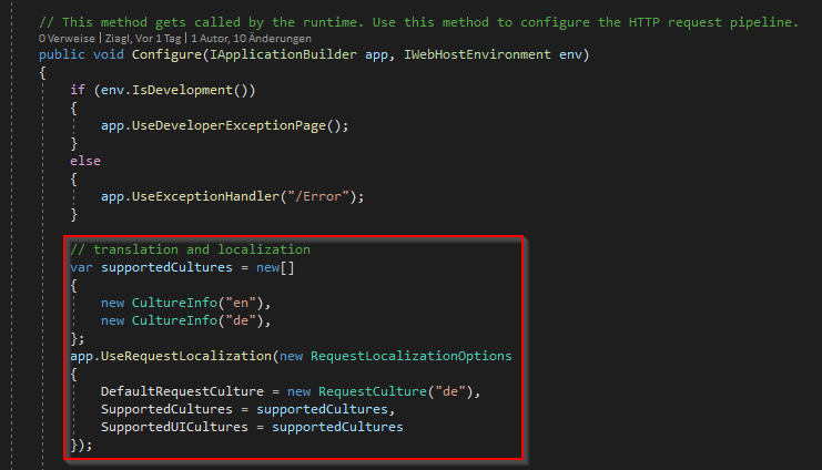 Blazor Server culture info