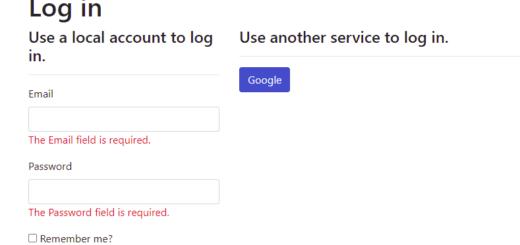 Google Login mit Blazor Server