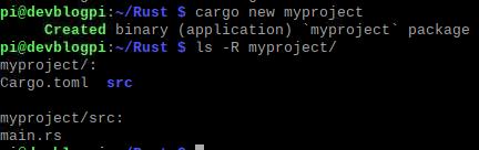 cargo neues Projekt