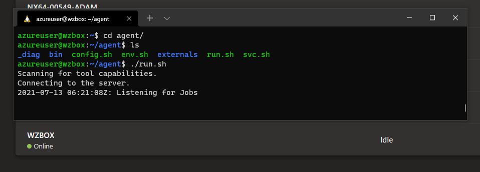 linux build agent run