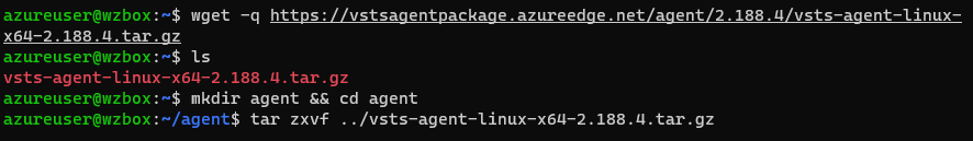 linux build agent install agent